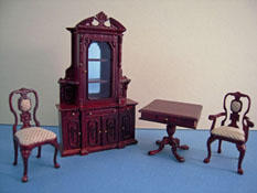 Bespaq 1/2� Scale Miniature Mahogany Four Piece Carrington Curio Set