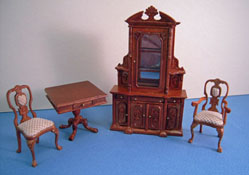 Bespaq 1/2� Scale Miniature Walnut Four Piece Carrington Curio Set