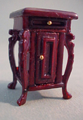 "1/2"" Scale Fantasy Lyre Mahogany Night Stand"
