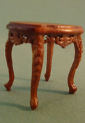 Bespaq 1/2&quot; Scale Walnut Mederian End Table   