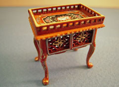Bespaq 1/2� Scale Miniature Hand Painted Walnut Washington Gallery Tea Table