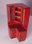 "Bespaq 1/2"" Scale Provencial Mahogany Kitchen Cabinet Corner Unit"