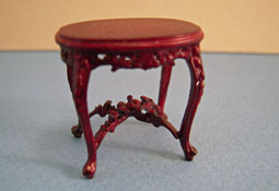 "Bespaq 1/2"" Scale Riverton Mahogany Oval Carved End Table"