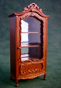 "Bespaq 1/2"" Scale Walnut Benoit Display Cabinet"