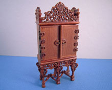 "1/2"" Scale Miniature Bespaq Walnut Grand Estate Cabinet"