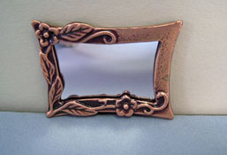 "1"" Scale Antique Copper Mirror"