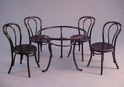 """1"""" Scale Black Glass Top Patio Table Set"""
