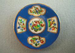 """Christopher Whitford 1"""" Scale Hand Painted Decorative Blue Bird Plate"""