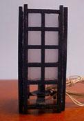 "1"" Scale Miniature Oriental Shoji Lamp"