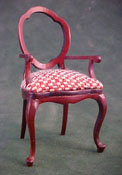 "Bespaq 1"" Scale Red Checked Arm Chair"