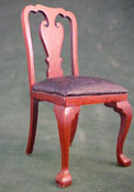 Bespaq 1&quot; Scale Leather Walnut Side Chair
