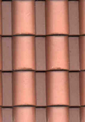 "1/2"" Scale Spanish Roof Tile Styrene Sheet"