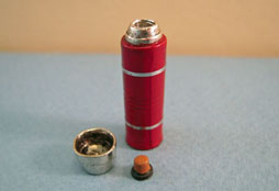 "1"" Scale Sir Thomas Thumb Red Metal Thermos"