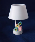 "1"" Scale Battery Operated ABC Nursery Table Lamp"