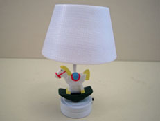 """1"""" Scale Battery Operated Rocking Horse Nursery Table Lamp"""