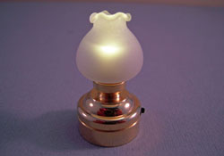 "1"" Scale Battery Operated Single Bulb Table or Ceiling Lamp"
