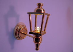 "1"" Scale Battery Operated Brass Coach Lamp"