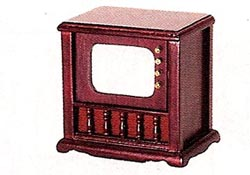 "1"" Scale Mahogany TV Set"