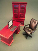 "1"" Scale Mahogany Four Piece Office Set"