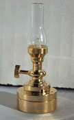 "1"" Scale Battery Operated Hurricane Table Lamp"