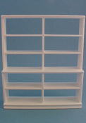 "1"" Scale Large White Shelf Unit"