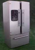 "1"" Scale Modern Silver Refrigerator"