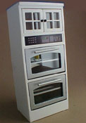 "1"" Scale Double Oven with White Cabinet"