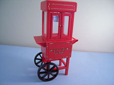 "1"" Scale Townsquare Olde Time Red Popcorn Popper"