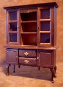 1&quot; Scale Walnut Hutch