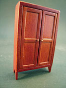 Townsquare Miniatures 1/2� Scale Miniature Jefferson Walnut Cupboard