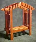 Townsquare 1/2&quot; Scale Pecan Patio Garden Bench 