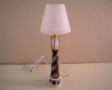 "1"" Scale Lighthouse Floor Lamp"