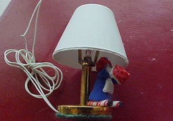 "TEC 1/2"" Scale Miniature Raggedy Girl Table Lamp"