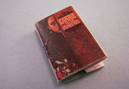 "1"" Scale Artisan Miniatures Hand Crafted Printed Book ""Carrie"""