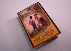 "1"" Scale Artisan Miniatures Hand Crafted Printed Book ""The Adventures Of Tom Sawyer"""