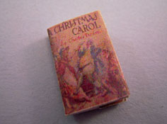 "1"" Scale Hand Crafted Printed Book ""A Christmas Carol"""