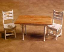 """Taylor Jade 1/2"""" Scale Anitique White Colonial Kitchen Set"""