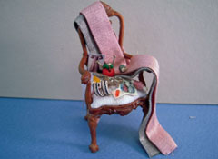 "Taylor Jade 1/2"" Scale Filled Victorian Sewing Chair"