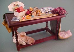"1"" Scale Victorian Sewing Table"