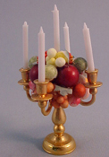 "Taylor Jade 1"" Scale Hand Crafted Fruit Candlelabra"