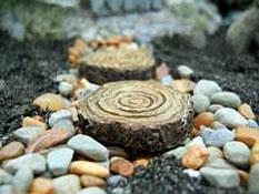 Fairy Garden Set Of Four Tree Stump Stepping Stones