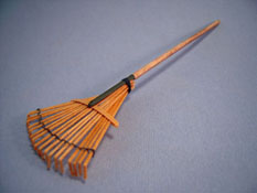 "Sir Thomas Thumb 1"" Scale Hand Crafted Miniature Bamboo Garden Rake"