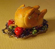 "1"" Scale Deluxe Turkey Garnished with Fruit"