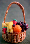 "1"" Scale Filled Fruit Basket"