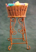 "1"" Scale Tall Filled Knitting Basket"