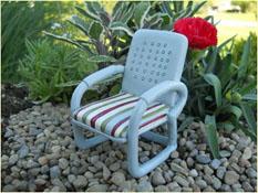 Fairy Garden Miniature Vintage Metal Looking Chair