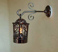 "1"" Scale Battery Operated Fancy Black Coach Lamp"