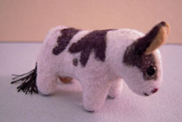 "World Of Miniature Bears 1"" Scale Black And White Toy Cow"