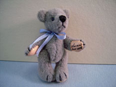 "World Of Miniature Bears 1"" Scale Classic Grey Teddy Bear"