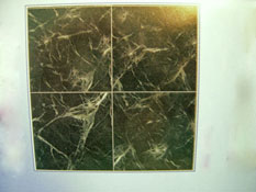 "1/2"" Scale World Model Green Faux Marble Floor Tile"
